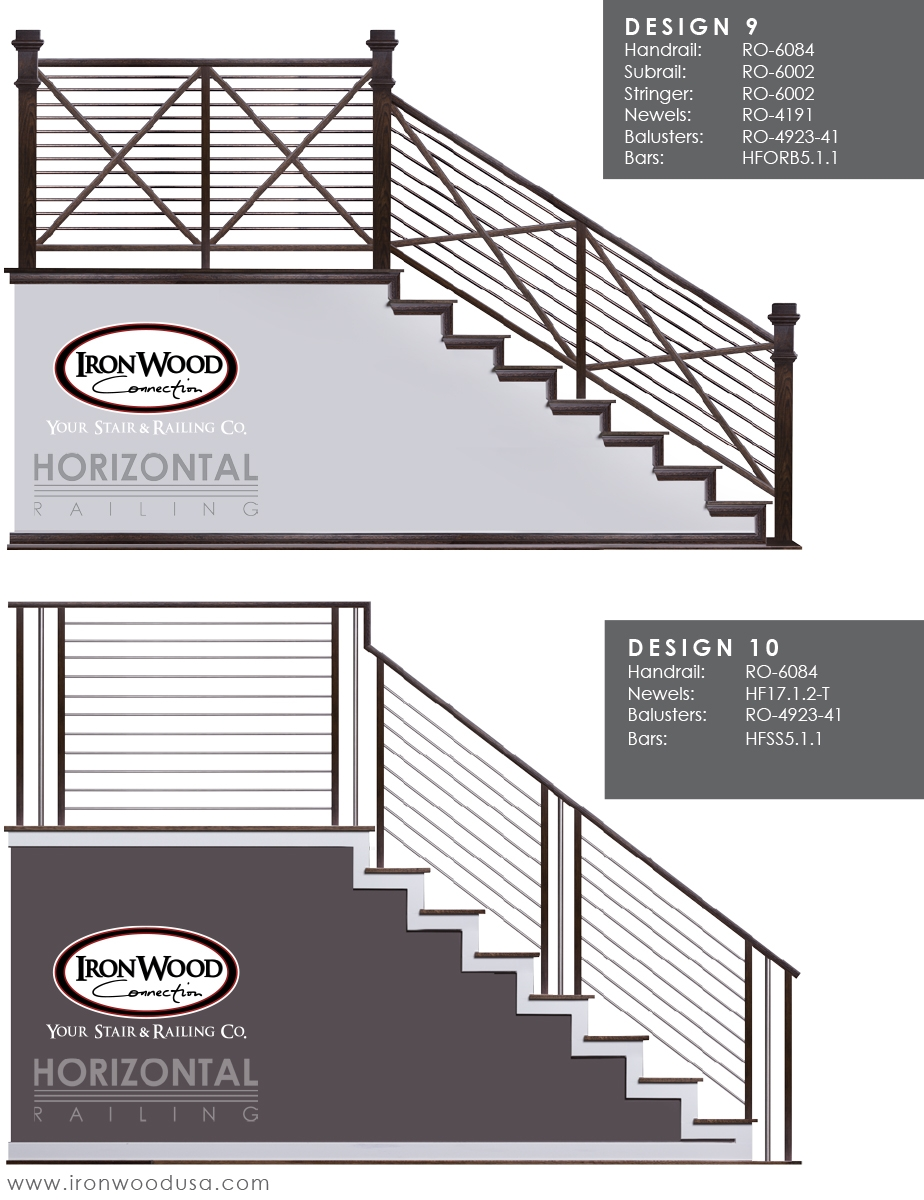Affordable Horizontal Railing Now Available Ironwood Connection | Black Horizontal Stair Railing | Room | Split Entry | Steel | Modern | Metal