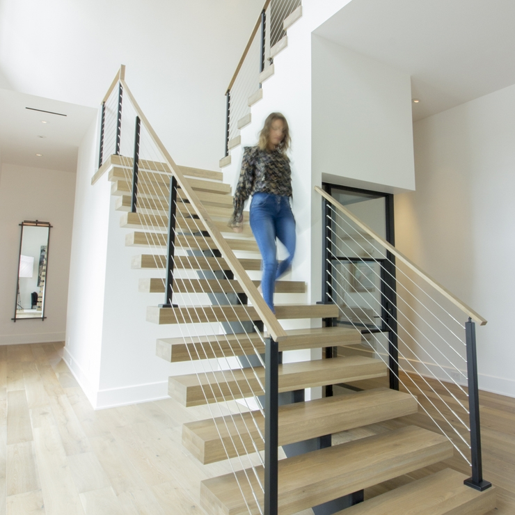 Ironwood Connection Stair Railing Company | Glass Staircase Panels Near Me | Modern Staircase Railing | Tempered Glass | Wood | Stair Balustrade | Stair Case