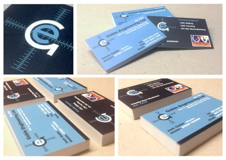 Personalised business cards in Havant and across Hampshire blue business cards