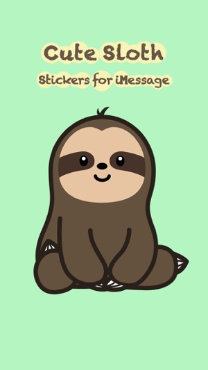 Image of: Draw Screenshots Itunes Apple Cute Sloth Stickers On The App Store