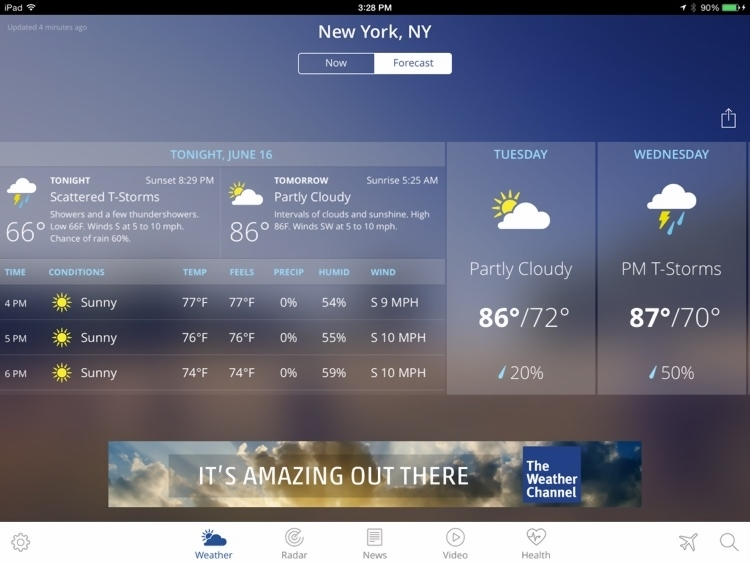The Weather Channel App for iPad     best local forecast  radar map     The Weather Channel App for iPad     best local forecast  radar map  and storm