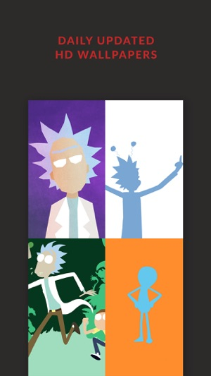 HD Wallpapers Rick And Morty Edition   Free Filters on the App Store Screenshots  iPhone      iPad
