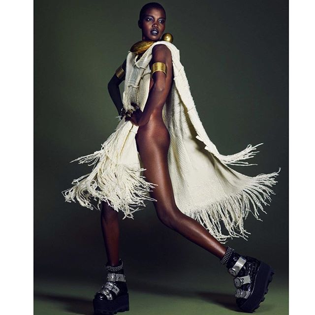 Black is Beautiful  See African High Fashion Models This Week on     Nykhor 11 27