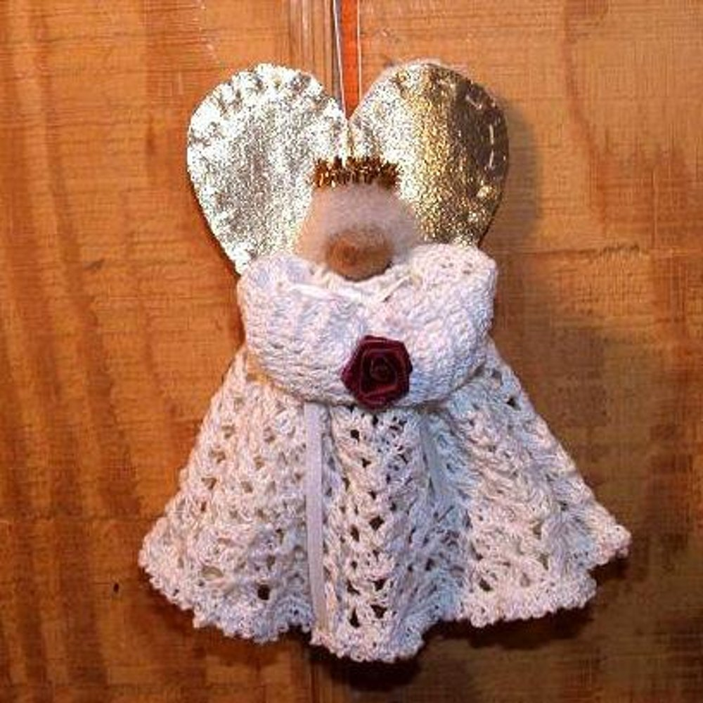 Crochet Clothespin Angel Yarn
