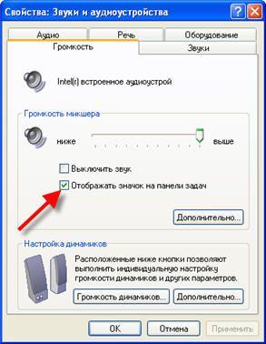 Vis ikonet Lydstyrke på proceslinjen