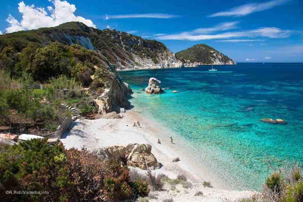 A beach on Elba, the largest island of the Tuscan Archipelago