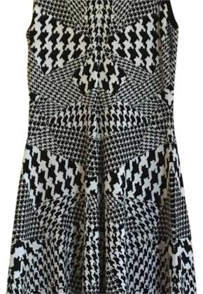 MCQ by Alexander McQueen Black White Wfo 332534 Mid length Cocktail     MCQ by Alexander McQueen Dress