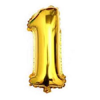 Gold 40    Giant 1 One Mylar Number Letter Balloons Birthday Big     Gold 40
