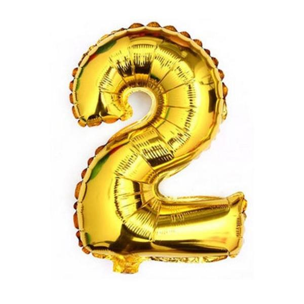 Gold 40    Giant 2 Two Mylar Number Letter Balloons Birthday Big     Gold 40    Giant 2 Two Mylar Number Letter Balloons Birthday Big Balloon  Party Table Centerpiece