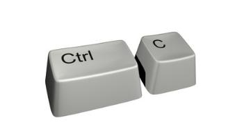 复制Ctrl + C.