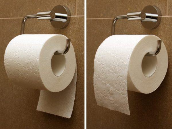 The Story of Toilet Paper   Interesting Thing of the Day Toilet paper rolled under and over
