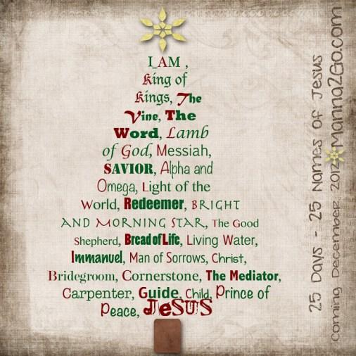 25 Days – 25 Names of Jesus | It's Just Me: SARAH