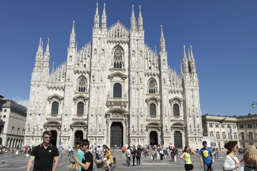 Milano     Fashion Capital of the World     kelly dang Standing infront of the Milan Cathedral  probably one of the biggest  cathedral in Italy