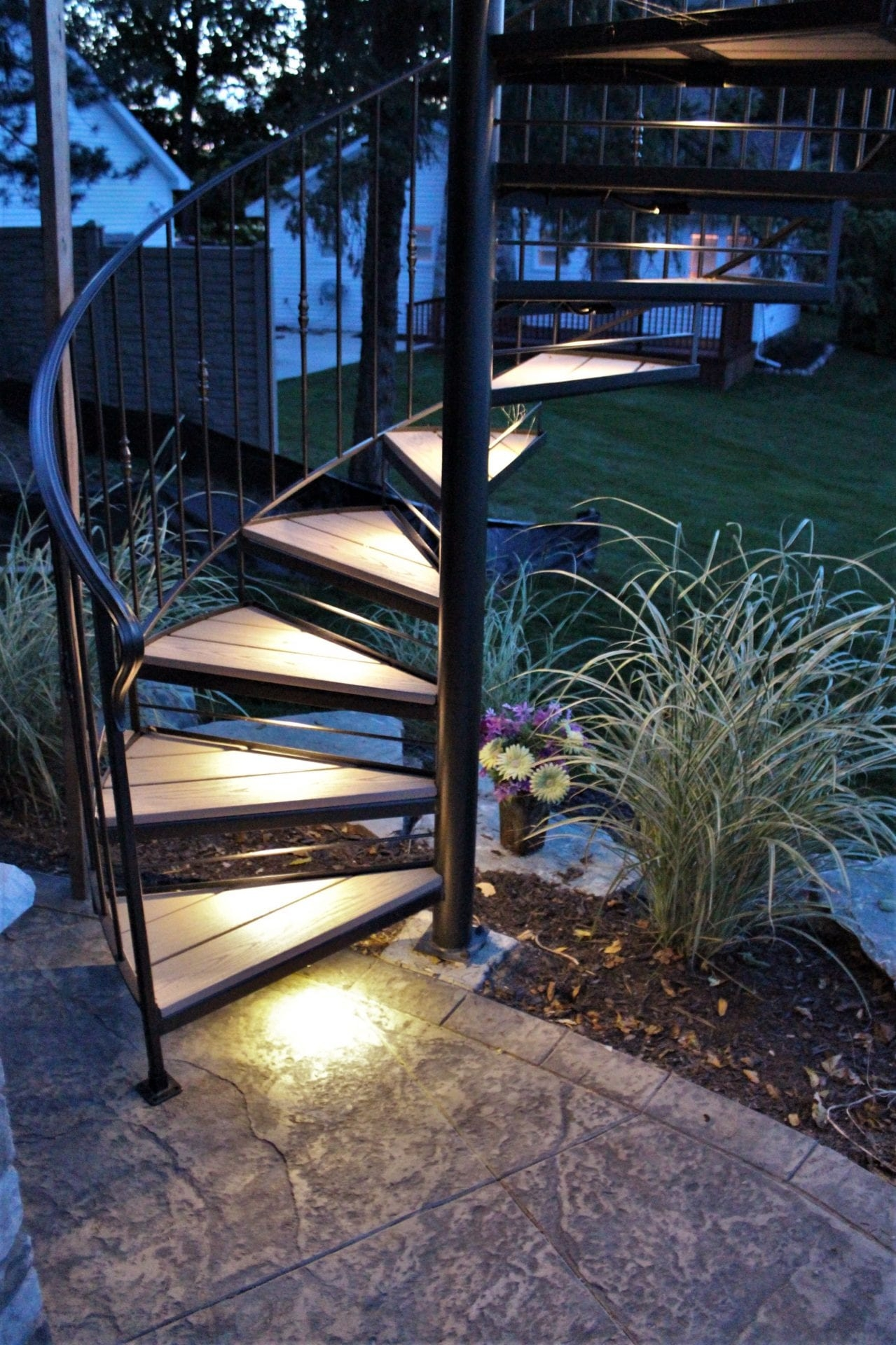 Spiral Stairs For Deck And Patio Great Lakes Metal Fabrication | Steel Spiral Staircase Design | Concrete | Outdoor | Wood | Structural | Cast Iron