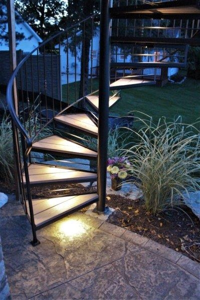Spiral Stairs For Deck And Patio Great Lakes Metal Fabrication | Wrought Iron Stairs Outdoor | Early 19Th Century | Iron Handrail | Mild Steel | Porch | Steel