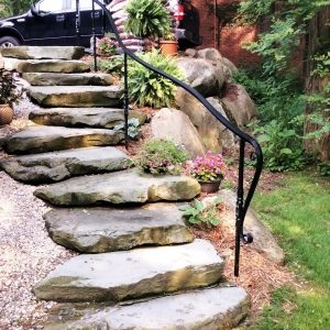 Spiral Staircase Manufacturer Great Lakes Metal Fabrication | Wooden Handrail For Garden Steps | French Door Garden | Garden Stair | Landscape | Outside Step | Outdoor Near Me Step