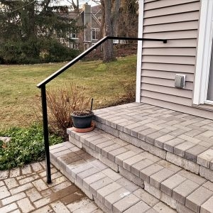 Handrails Great Lakes Metal Fabrication | Handrails For Outside Steps | Single Step | Rustic | Aluminum | Front Porch | Walkway
