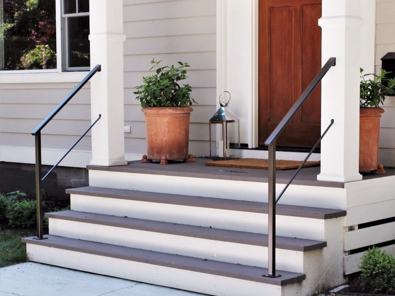 Classic Metal Handrails For Porch Steps Great Lakes Metal   Aluminum Steps With Handrail   Boat Dock   Wheelchair Ramp   Stair Treads   Folding   Stair System