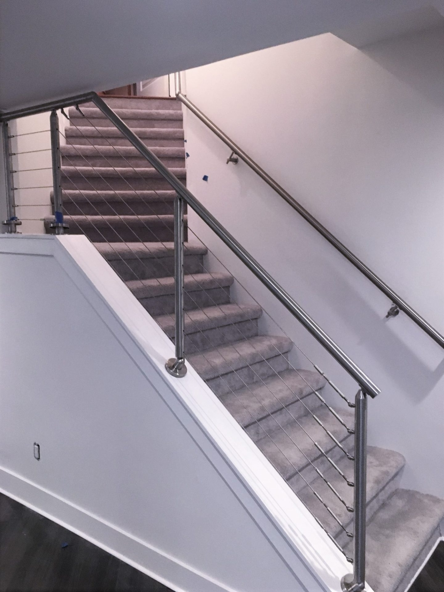 Stainless Steel Cable Railing Kit Great Lakes Metal Fabrication   Stainless Steel Handrails Near Me   Glass Railing Systems   Staircase Railing   Stair Railing   Metal   Relaxdays Stainless