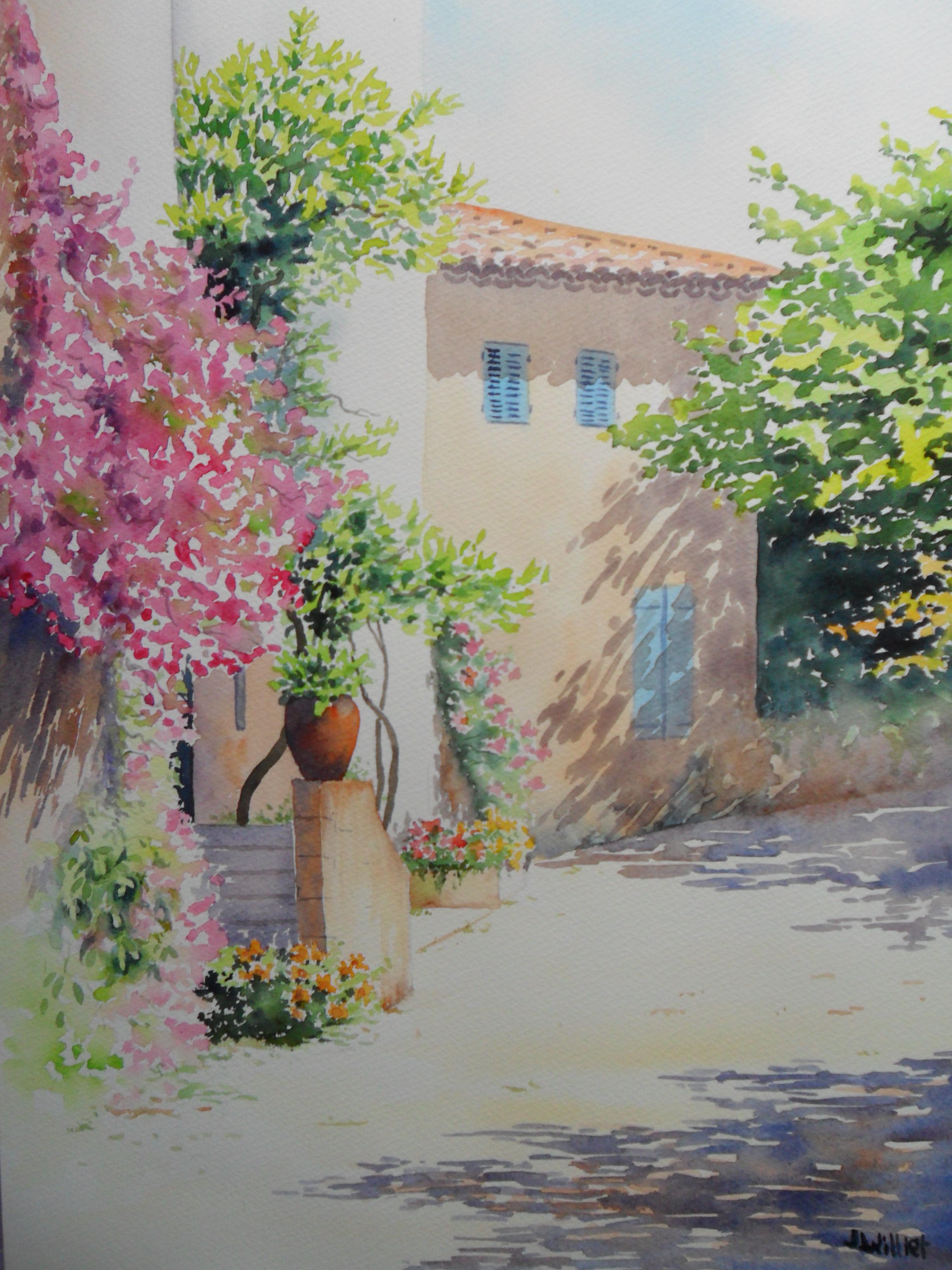 Paysages Amp Jardins Jacques Williet Aquarelliste