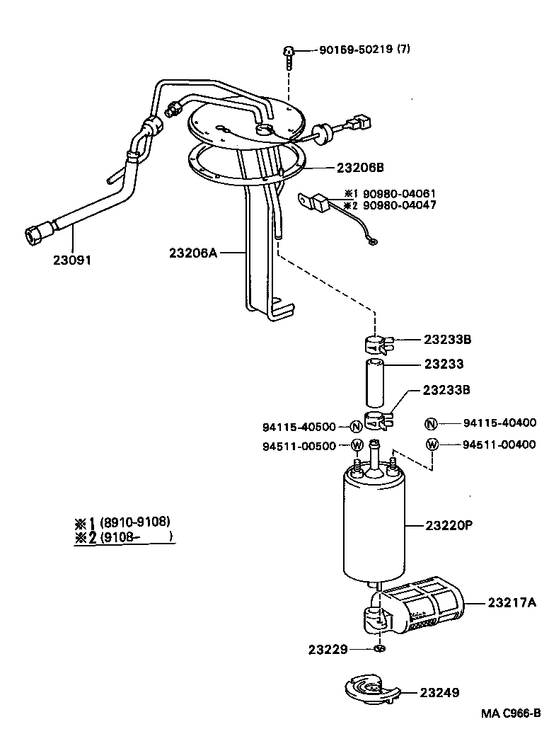 Celica fuel injection system