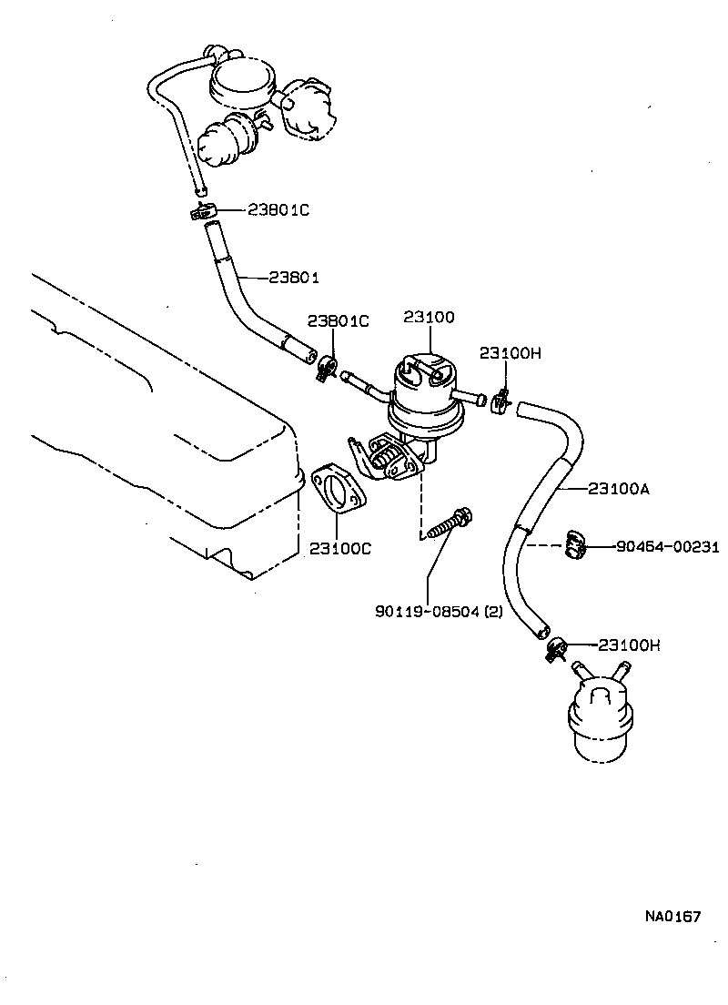 Corona carina 2 fuel pump pipe
