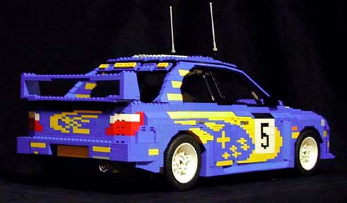 MINICARS  A beginner s guide to JNC Legos  Part 01   Japanese     Lego Subaru Impreza WRC 2001 by ken tucky 02
