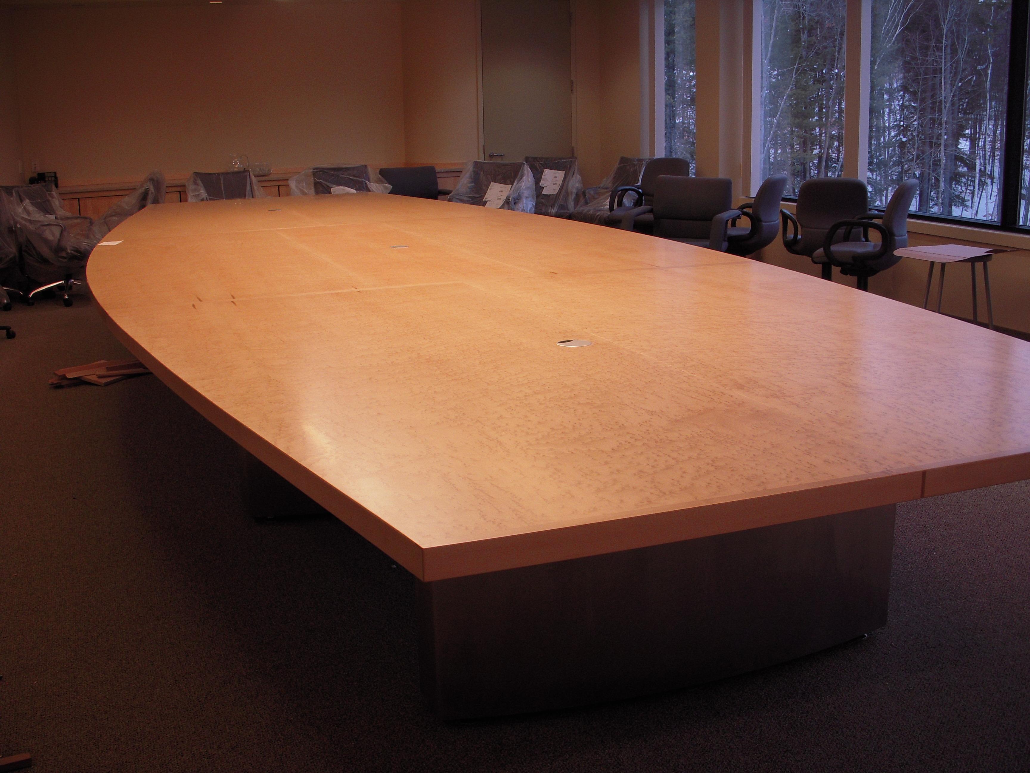 Custom Conference Table Birdseye Maple Boardroom Table