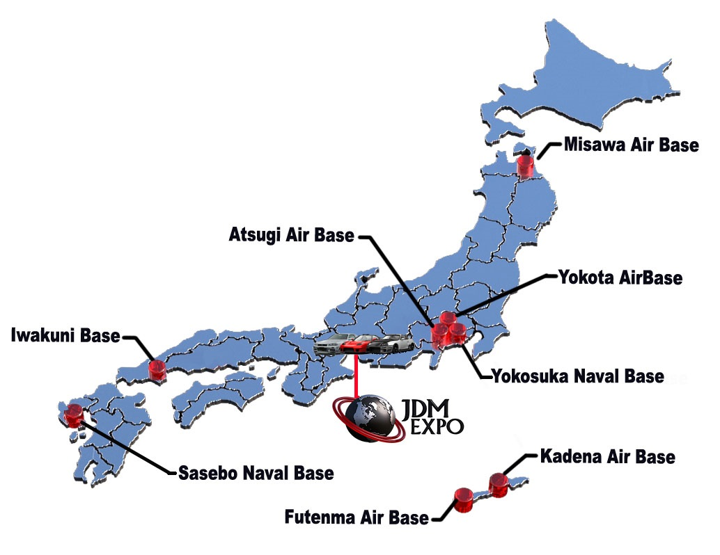 Navy Bases In Japan Map.Japan Bases Us Naval Map