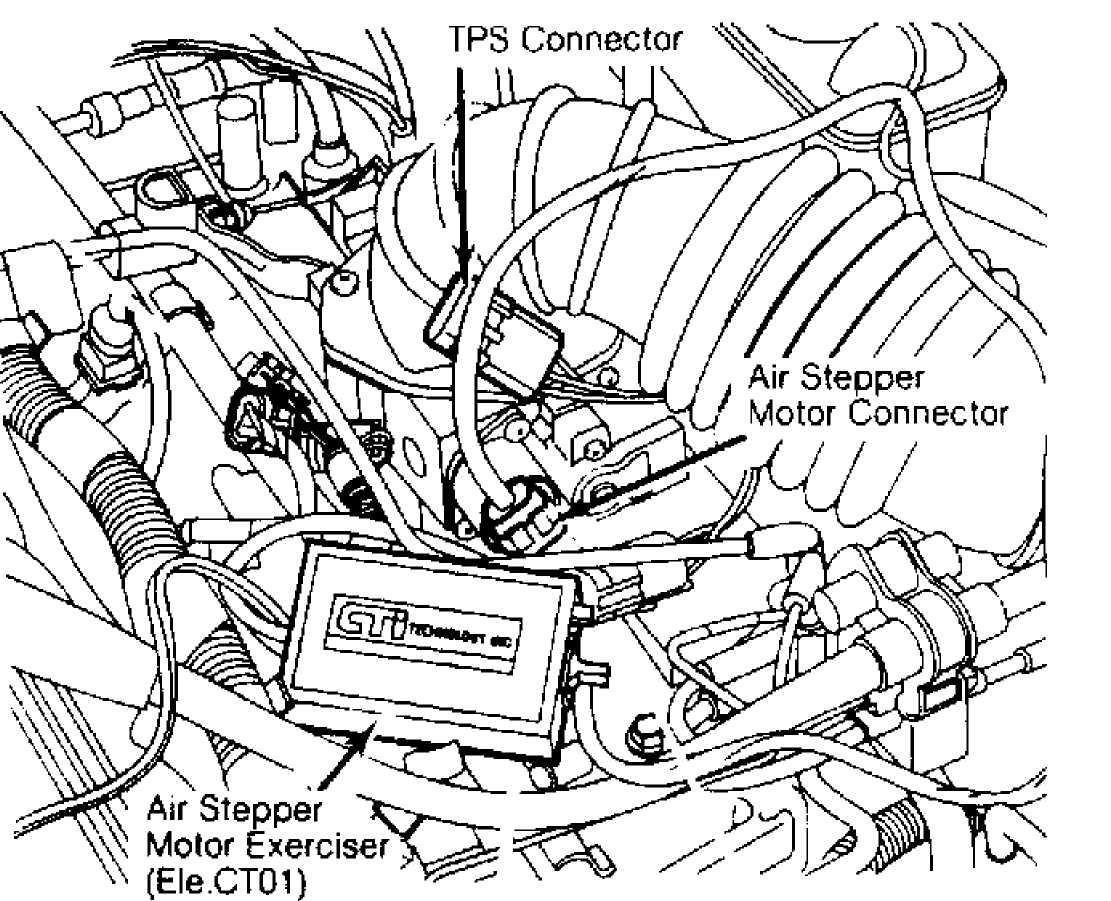 4 installing air stepper motor exerciser courtesy of chrysler motors