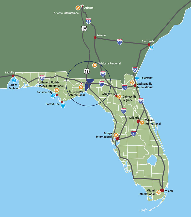 Detailed Map Of Florida.Map Florida Workforce Regions