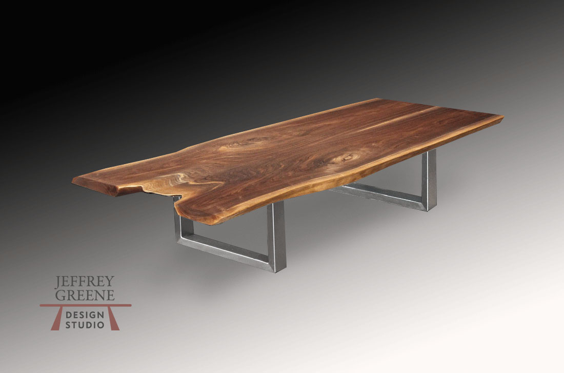 Rare Wood Slab Coffee Tables Jeffrey Greene Design Studio