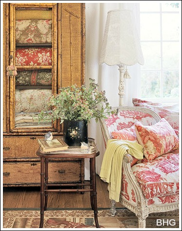French Country Decorating Ideas  This is a cheap decorating idea that turns an old piece of furniture into a  treasured heirloom