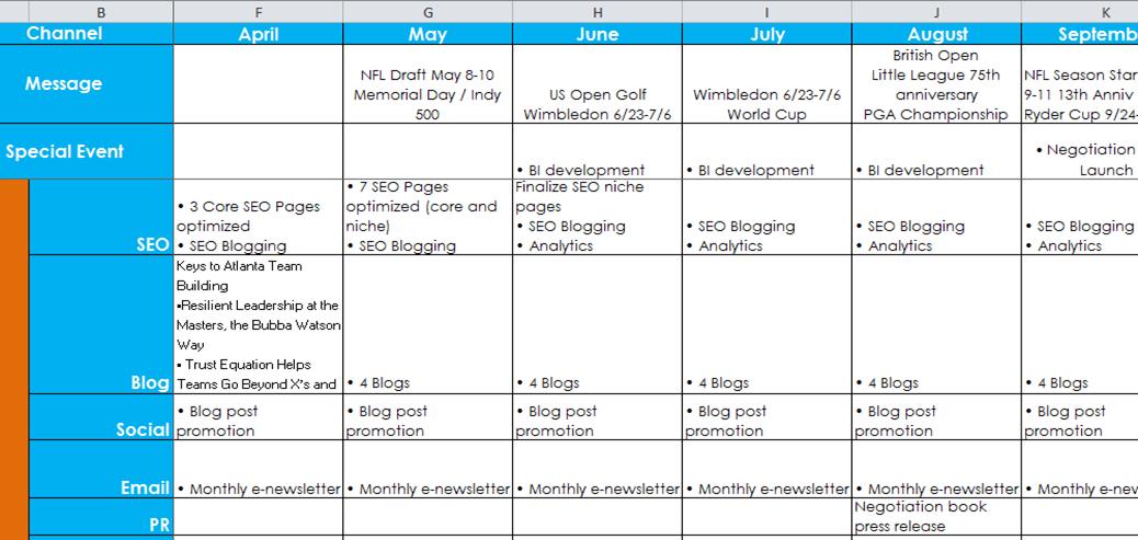 Monthly Calendar Budget Template