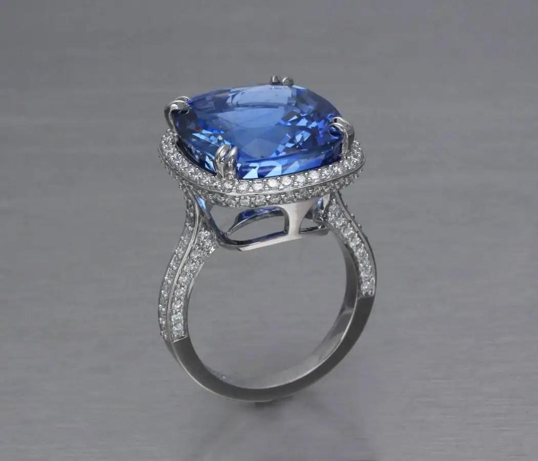Blue Sapphire Engagement Ring Jonathan S Fine Jewelers