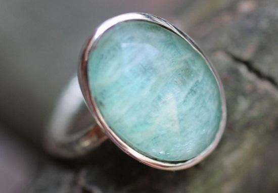 Anello in argento con beryl