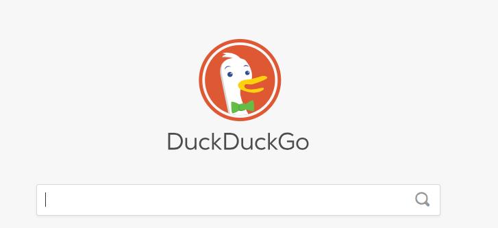 duckduckgo homepage