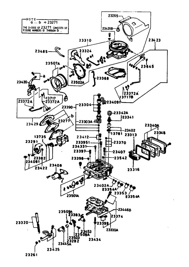 1986 Mazda B2000 Vacuum Diagram