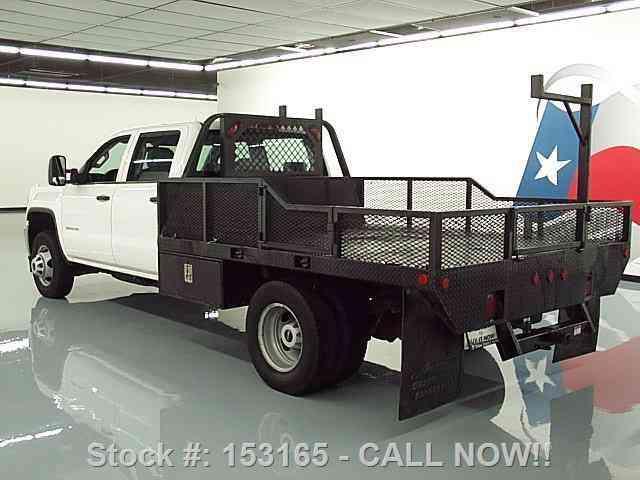 Gmc Sierra 3500 Hd 4x4 Crew Work Truck Flatbed 2015