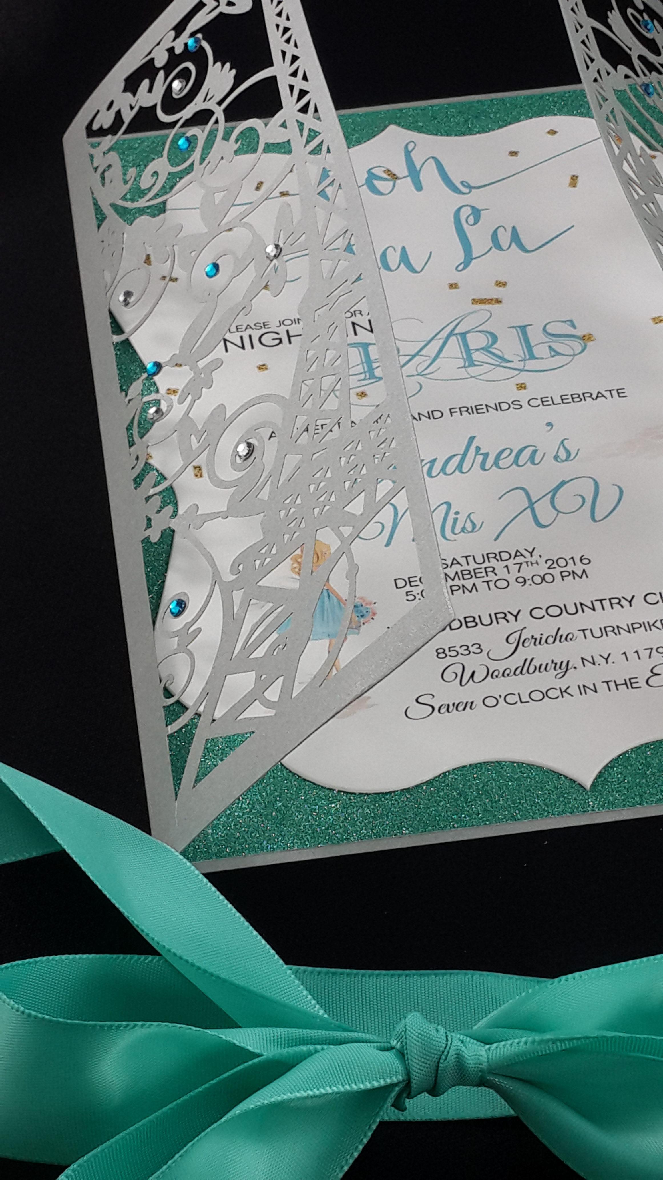 Bridal Shower Invitations Paris Theme
