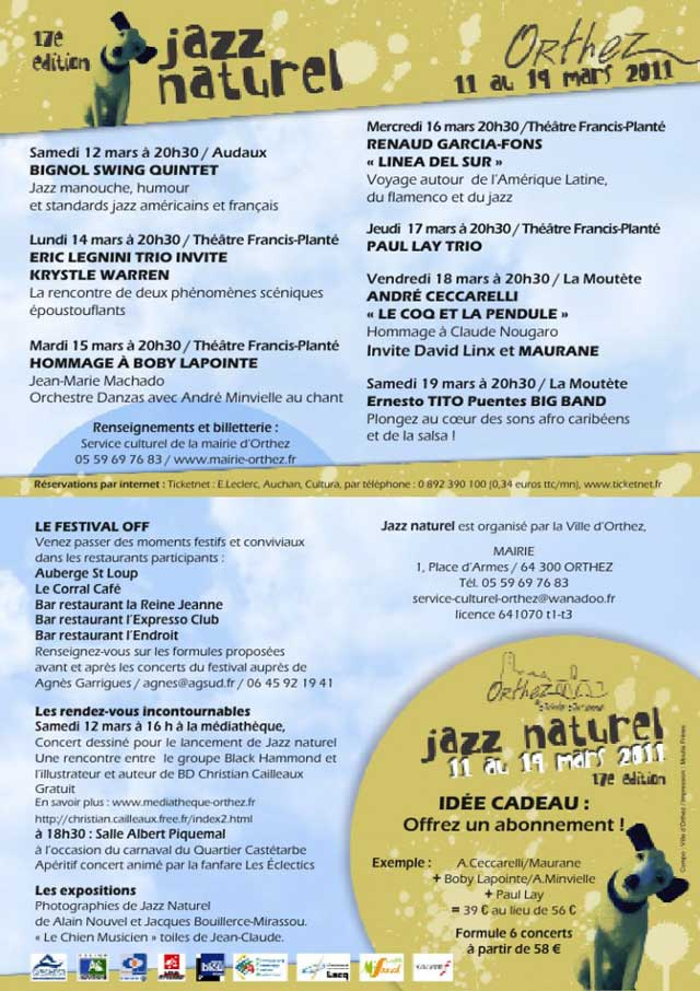Le programme de Jazz Naturel 2011