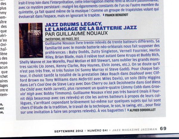 Article de Jazz magazine