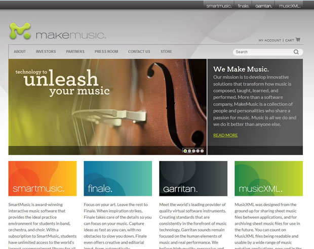 Makemusic new site