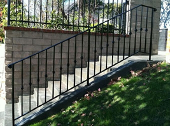 Ornamental Wrought Iron Stair Railing Balcony Handrails Los | Cast Iron Handrails For Stairs | Baluster Curved Stylish Overview Stair | 1920'S | Iron Railing | Exterior Stair | Georgian