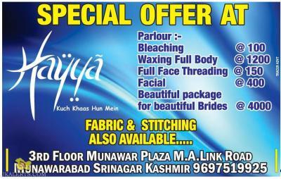 Hayya palour Special Offer | JKALERTS JKUPDATES | Jammu ...