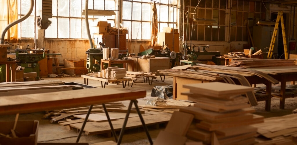 Furniture factory.
