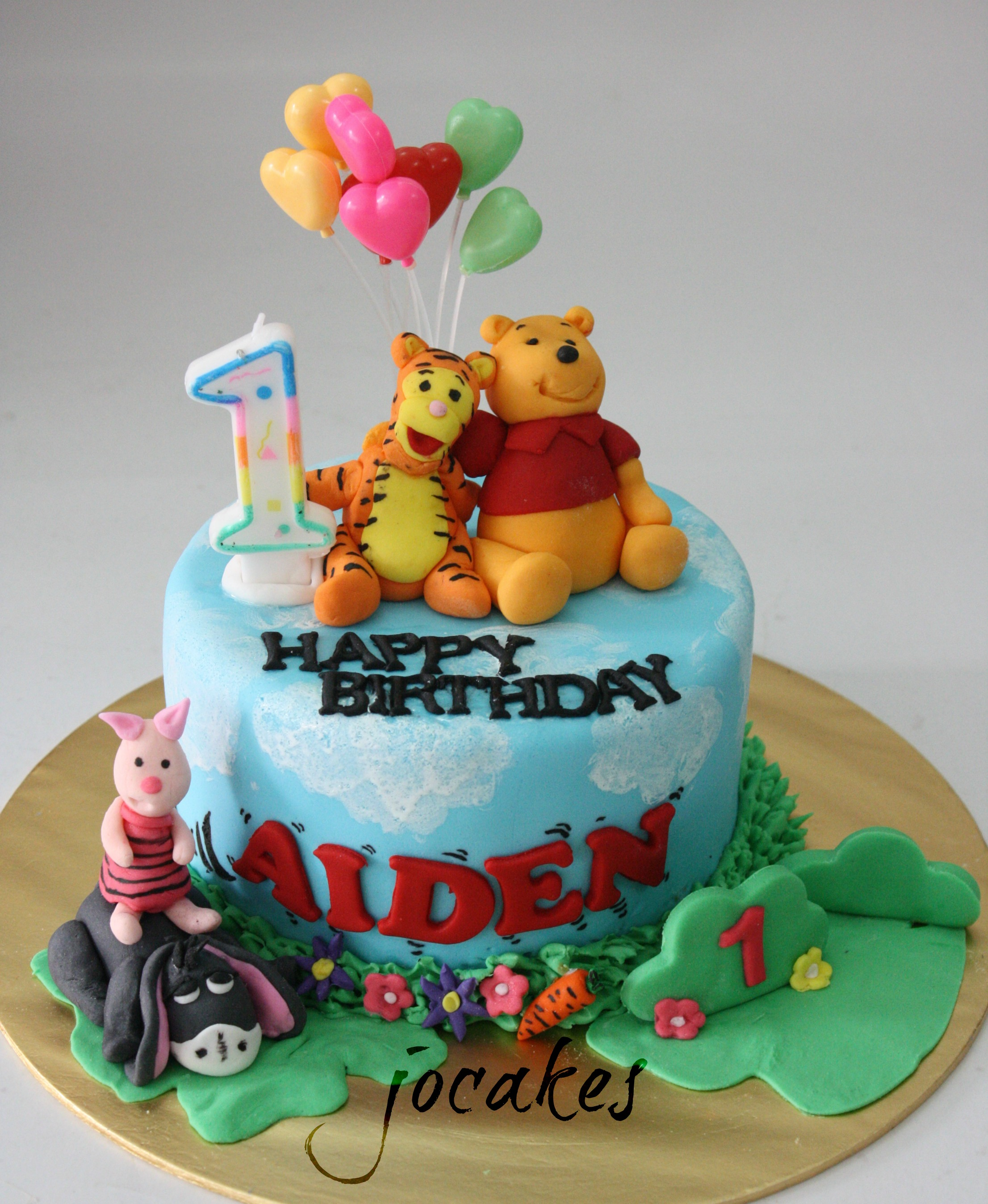 Winnie The Pooh And Friends Cake Jocakes