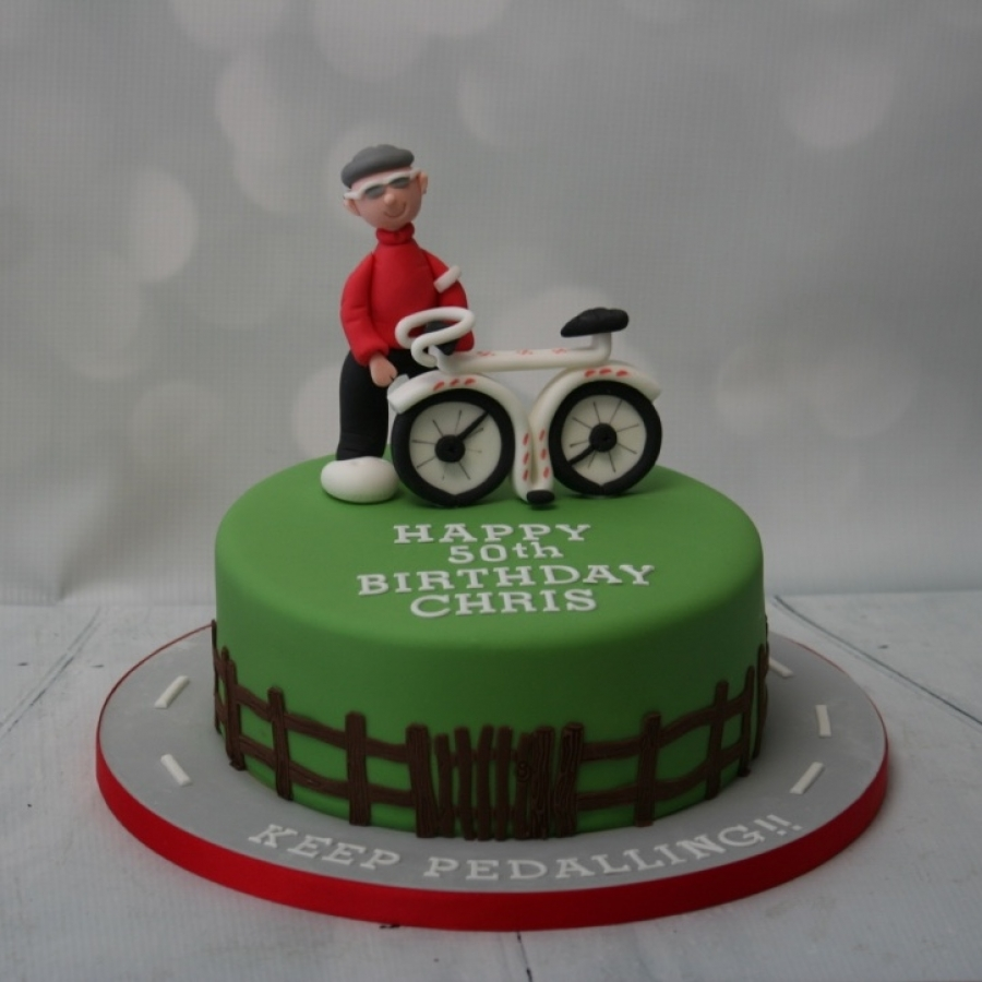 Keep Pedalling Cycling Themed Cake