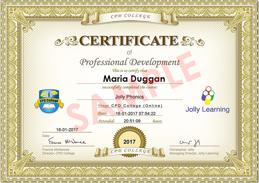 Cpd College Jollyphonics Online Training Courses