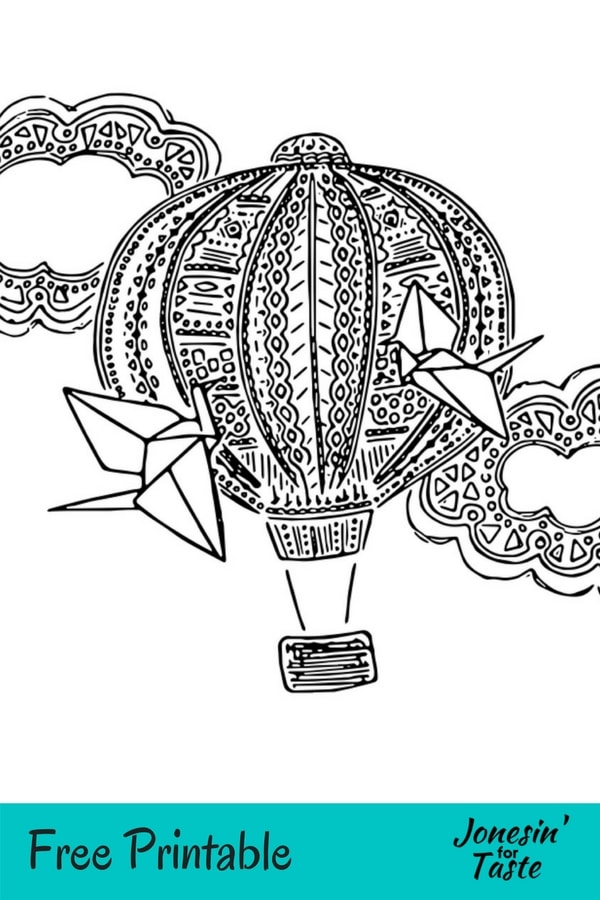 hot air balloon coloring pages # 10